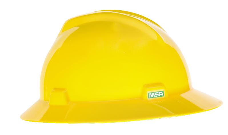 MSA Full Brim V-Gard Hard Hat w/ Staz-On Suspension