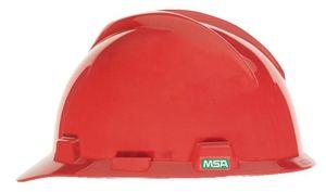 MSA Super V Hard Hat w/ Ratchet Suspension