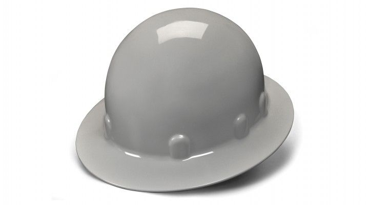 Pyramex SL Series Sleek Shell Full Brim Hard Hat 4-Point Ratchet